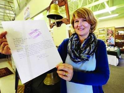 نیلسن منڈیلا کے ہاتھ کا لکھا ہوا خط65000رینڈ میں نیلام