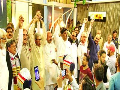 سینٹرل ایمپلائز یونین پی ٹی وی کے سر پرست اعلیٰ اقبال شاہین کے اعزاز میں استقبالیہ