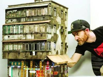 جزئیات سے بھرپور چھوٹی عمارتیں بنانے والا فنکار