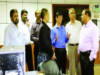 پاک چین اقتصادی و کلچر سنٹر کے وفدکا پی ٹی وی لاہور کا دورہ