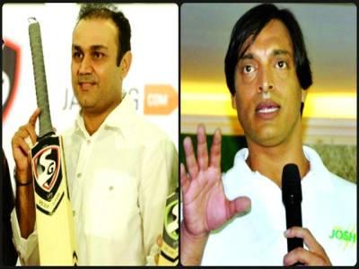 پاک بھارت ٹاکرا،شعیب اختر اور وریندر سہواگ میں نوک جھوک