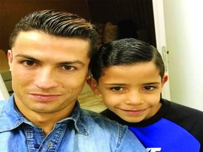 کرسٹیانو رونالڈو کے بیٹے کی ویڈیو وائرل ہو گئی