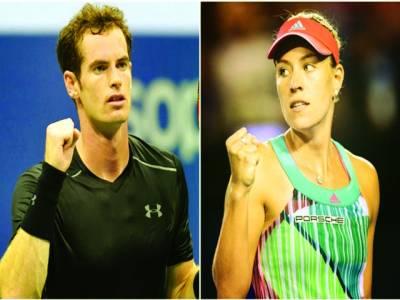 ٹینس رینکنگ، اینڈی مرے اور اینجلیق کربر پہلے نمبر پر براجمان