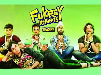 بالی وڈ کی آنے والی مزاحیہ فلم فقرے رٹرنز کا ٹیزر جاری کردیا گیا