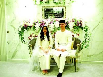 ملائشین شہزادی کی رنگا رنگ شاہانہ تقریب میں ہالینڈ نومسلم سے شادی