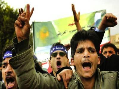 صنا: مظاہرین حکومت کی جانب سے طبی سہولتوں کے خلاف احتجاج کر رہے ہیں