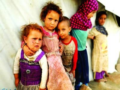 دمشق:مہاجر کیمپ میں موجود بچیاں امدا د کی منتظر ہیں