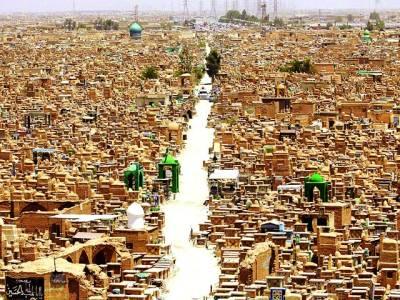 نجف: مسلم آبادی کا فضائی منظر