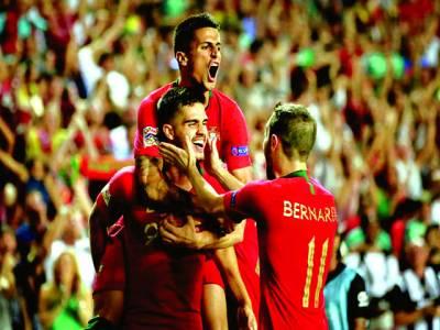 نیشنز لیگ فٹبال،یورپین چیمپئن پرتگال کی اٹلی کیخلاف فتح