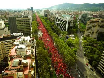 لیما: پیرو کے یوم آزادی کے موقع پر ہزاروں افراد ریلی میں شریک ہیں
