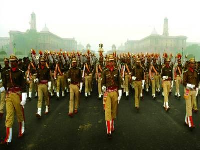 نئی دہلی:بھارت کی ریزرو پولیس یوم جمہوریت کی پریڈ کی تیاری کر رہی ہے