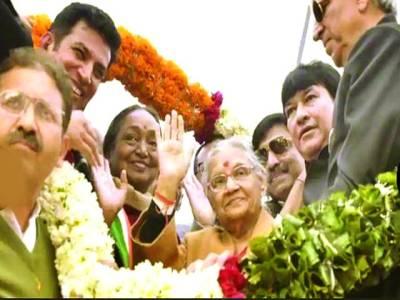 نئی دہلی: سابق وزیراعلیٰ شیلاڈکشٹ کو بی جے پی نئی دہلی کی سربراہ بنا دیا گیا اس موقع پر وہ صحافیوں سے گفتگو کر رہی ہیں۔