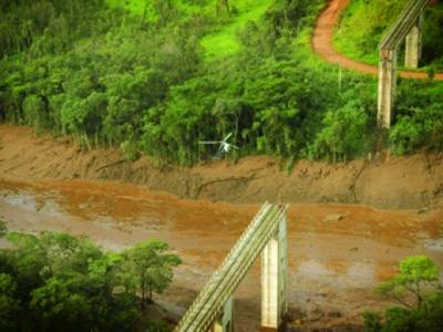 برازیلیا:برازیل کے جنوب مشرقی حصے میں ڈیم ٹوٹنے کے بعد کا منظر،اطلاعات کے مطابق 11افراد ہلاک ،کم از کم تین سو افراد لاپتہ ہو گئے