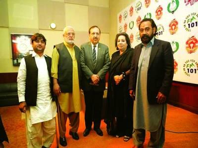 اکبر حسین درانی کا ریڈیو پاکستان لاہور کا دورہ
